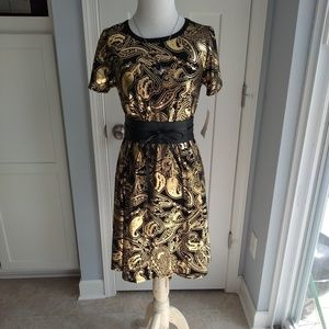 Lularoe xxs Carly- elegant collection black & gold